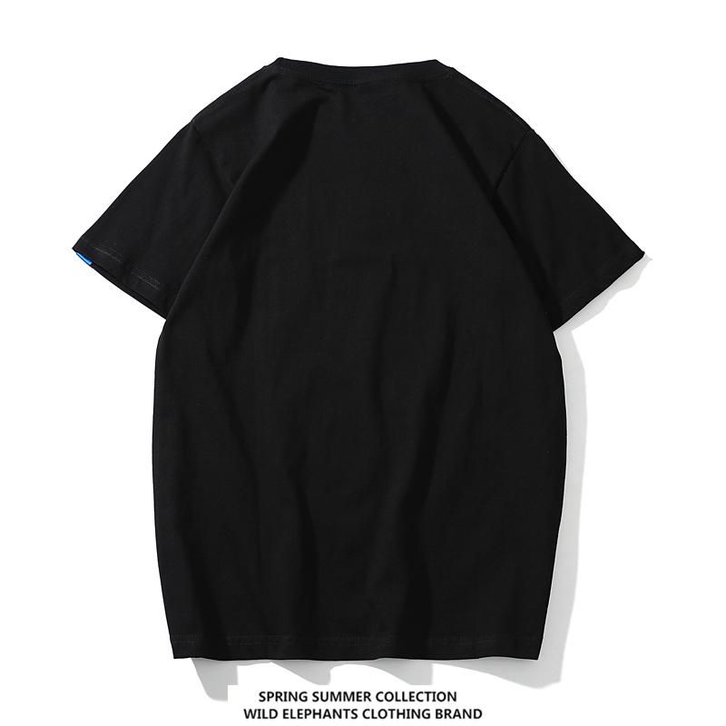 2018年夏季潮牌日系短袖情侣款t恤男女刺绣学生ins超火半袖打底衫