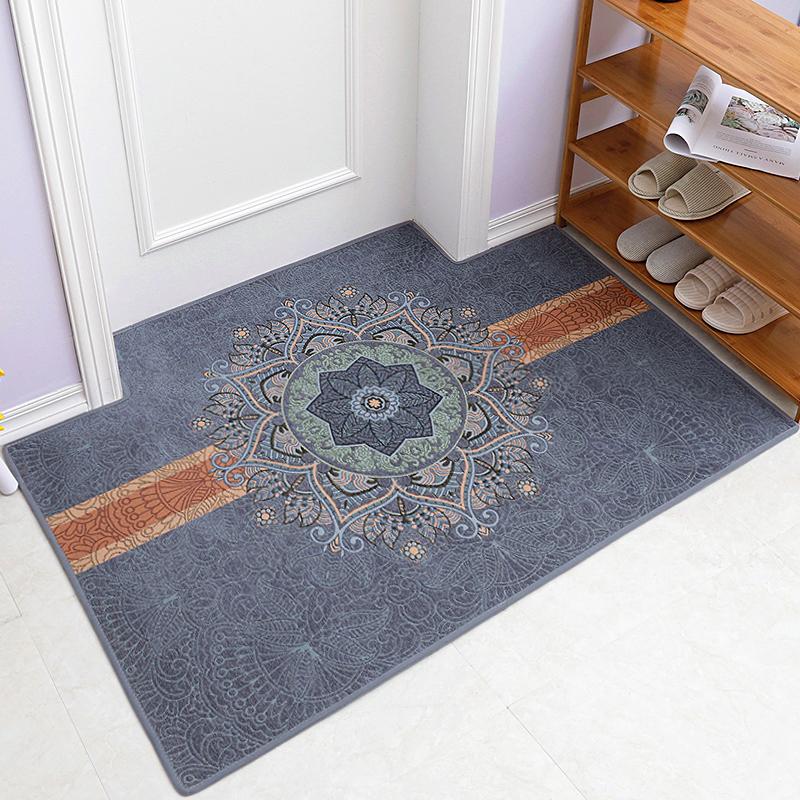 中式地垫门垫防滑进门脚垫门口地毯入户门厅垫子家用客厅卧室定制