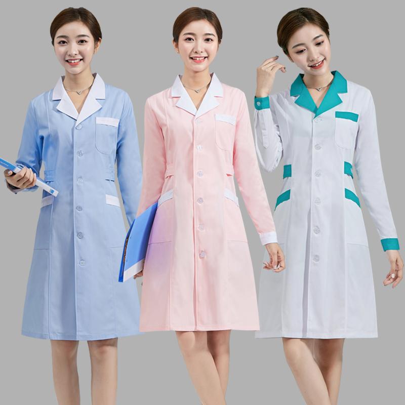 Nurses clothing winter long sleeve doctors white coat summer dress short sleeve pharmacy pharmacy beauty salon doctors work clothes