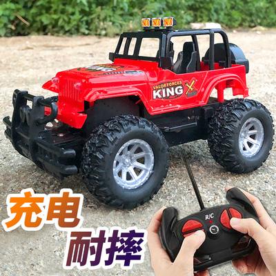 遥控汽车越野车充电无线高速赛车迷小汽车小型电动儿童玩具车男孩