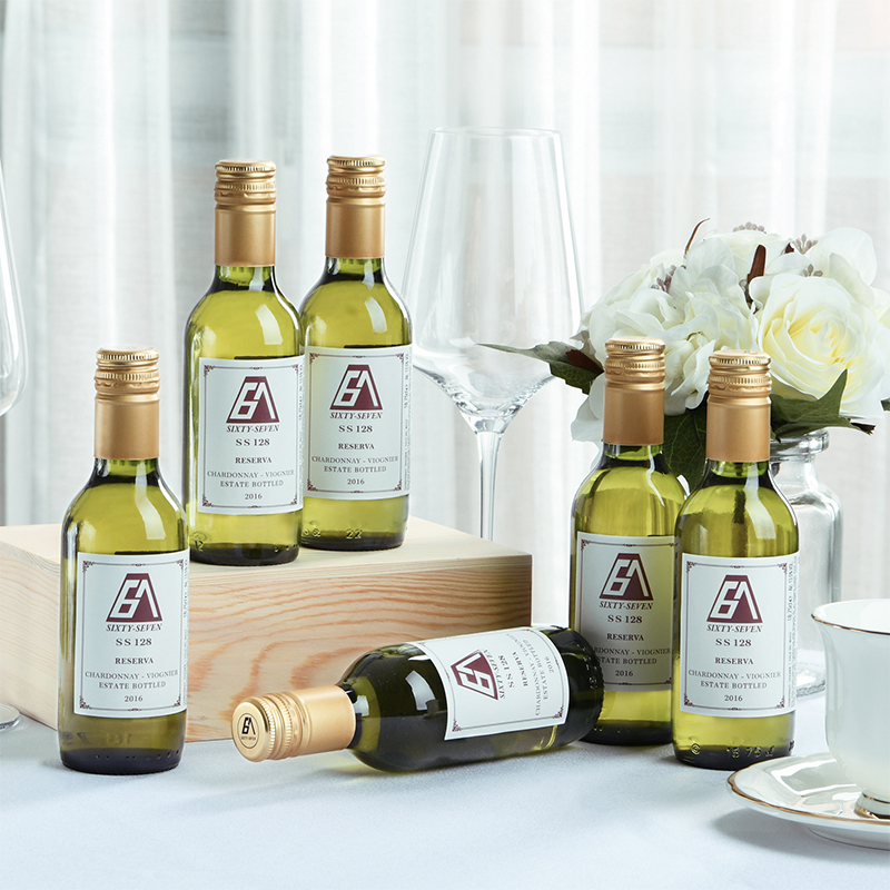 67 red wine ss128 Chile original imported Chardonnay Dry White wine small bottle gift box packed with 6 pieces x187ml