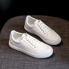 小白鞋女夏季2020新款春秋平底纯白色韩版百搭板鞋休闲图片