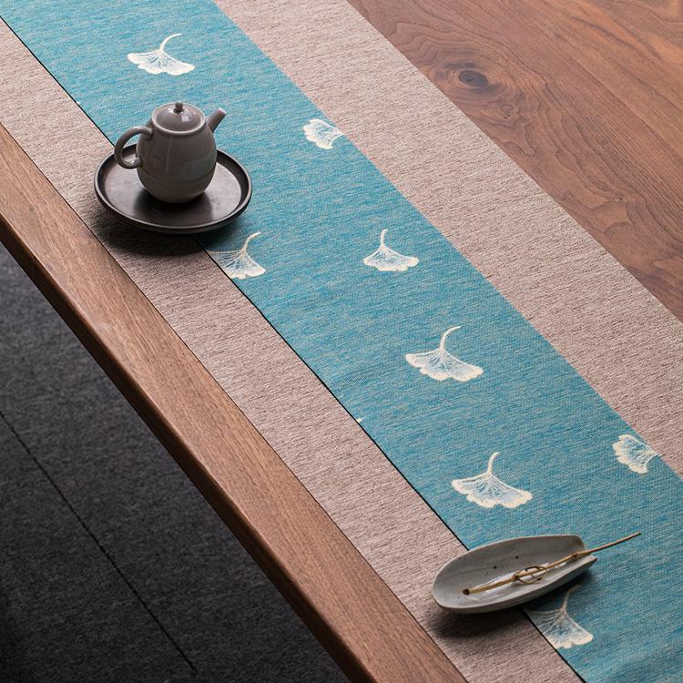 干泡茶席布置套装桌旗中式茶茶道