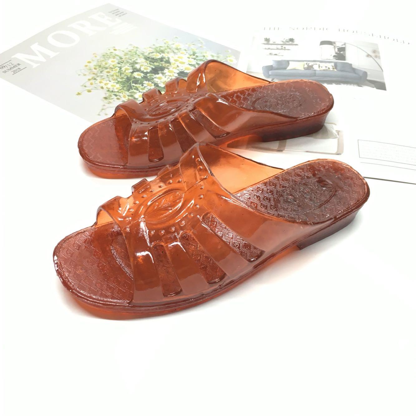 奶奶新款一字拖女纯色女鞋居家拖耐磨耐穿防滑底柔软舒适牛筋拖鞋