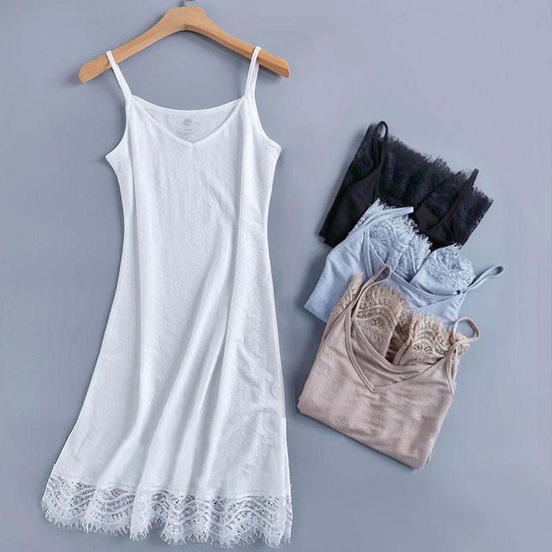 白色打底内衬吊带裙连衣裙内搭女鱼尾裙中长款外穿春夏季新款薄