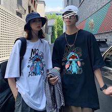 2021夏装新款男女装短袖t恤韩版宽松日式字母印花ins半袖百搭学生