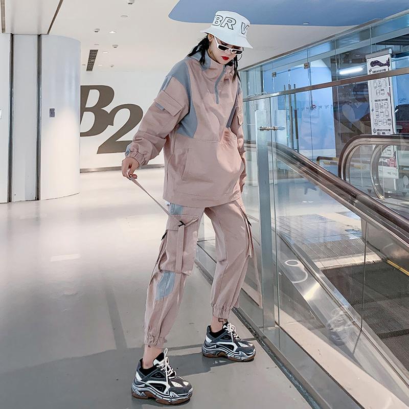工装套装女潮嘻哈bf初秋时尚减龄新款酷女孩穿搭秋冬装两件套洋气券后299.00元