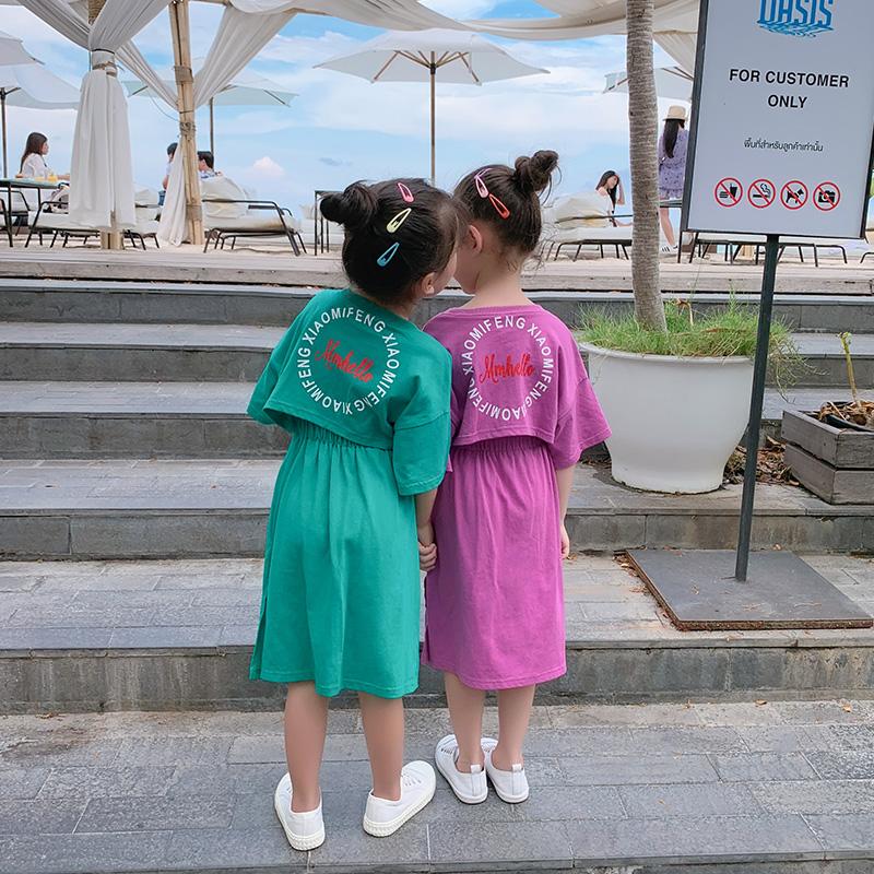 10月20日最新优惠小女孩洋气2019新款夏装韩版红裙子