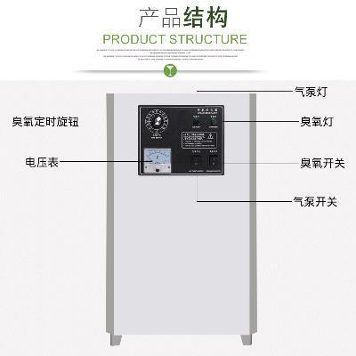 箱式臭氧发生器10g臭氧机食品车间用消毒水处理空气净化活氧