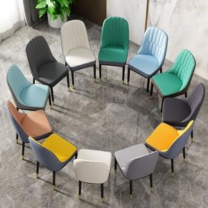 轻奢风餐椅家用现代简约北欧吃饭餐桌椅子餐厅软包靠背凳子化妆椅