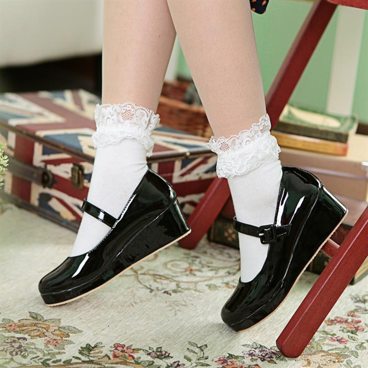 伪娘变装鞋lolita动漫展甜美洛丽塔萝莉cosplay舞台秀扮演cd单鞋