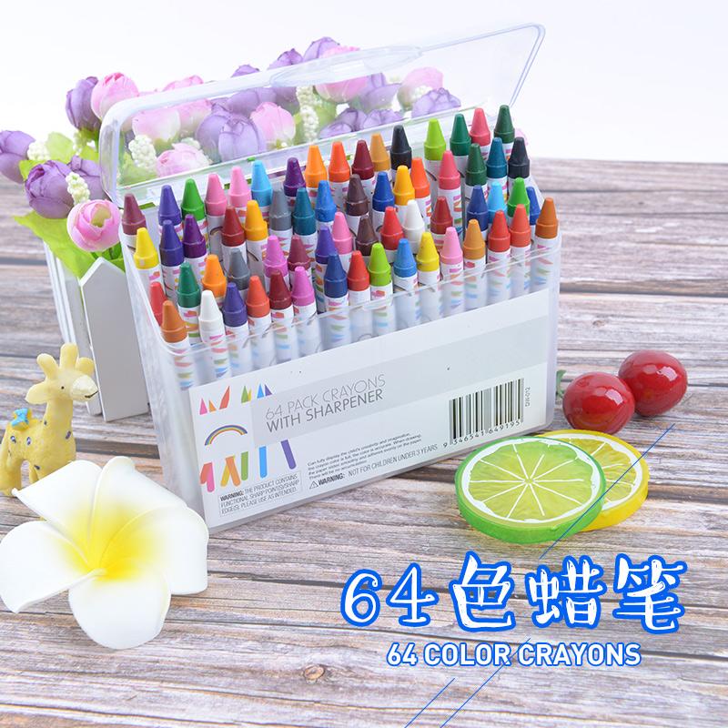 64色油画棒宝宝蜡笔儿童绘画套装小学生用幼儿园油化棒腊笔包邮