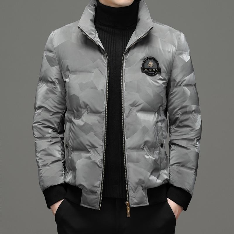 肯梵图中青年羽绒服外套上衣韩版时尚可翻立领上衣韩版时尚潮流
