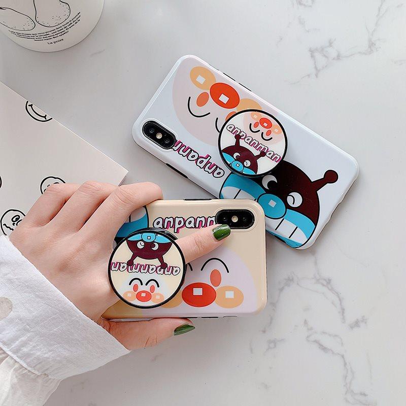 面包超人适用苹果xsmax手机壳iphone7/8plus硅胶软壳带指环支架xr