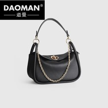 DAOMAN Baggage Girl 2018 New Skew Baggage Head Layer Cowhide Doctor Baggage Single Shoulder Hand-held Leather Bag HT918