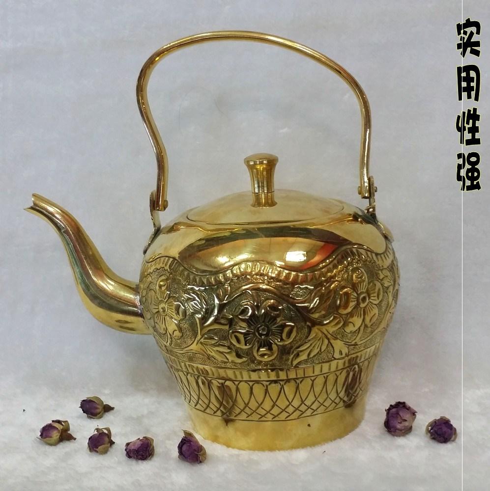 代购 印度工艺品 铜壶16英寸纯铜进口家用餐厅酒店咖啡壶茶壶手工