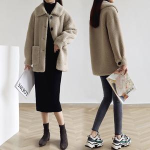 网红羊羔毛2019新款冬季小外套