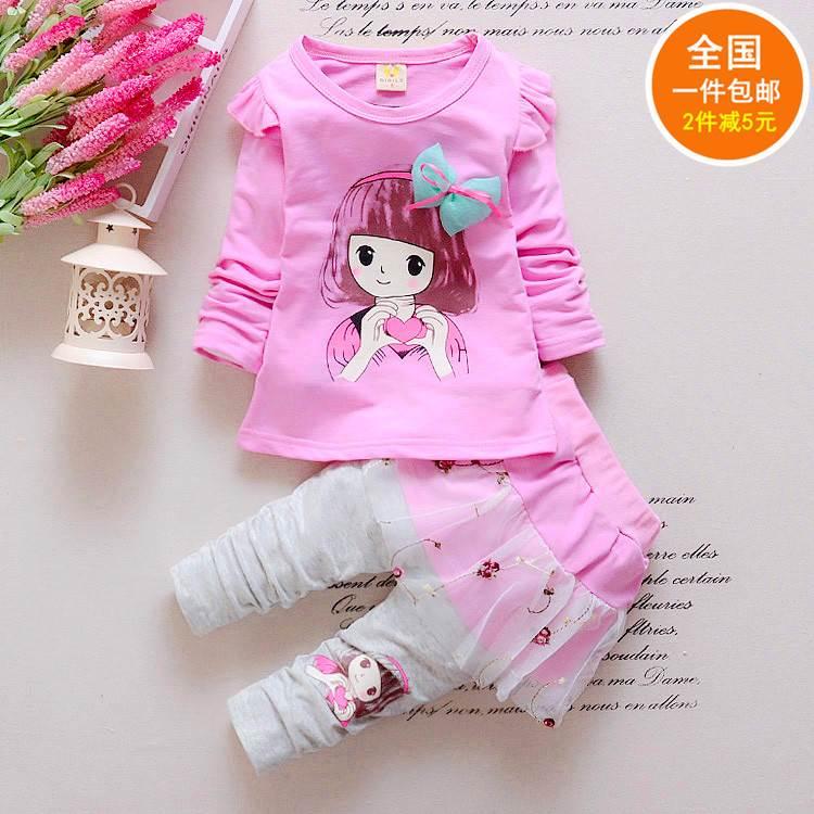 岁婴幼儿童女宝宝春秋装套装两件套43210童装长袖女童2018