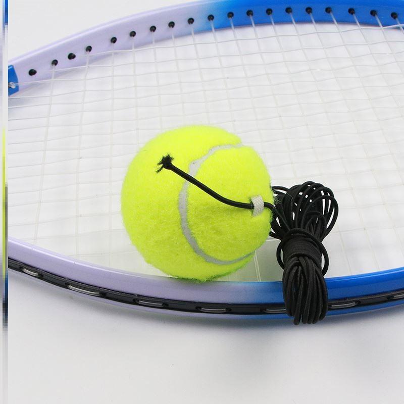 单人网球带线回弹训练器初学者一个人打的网球练习带绳弹力球
