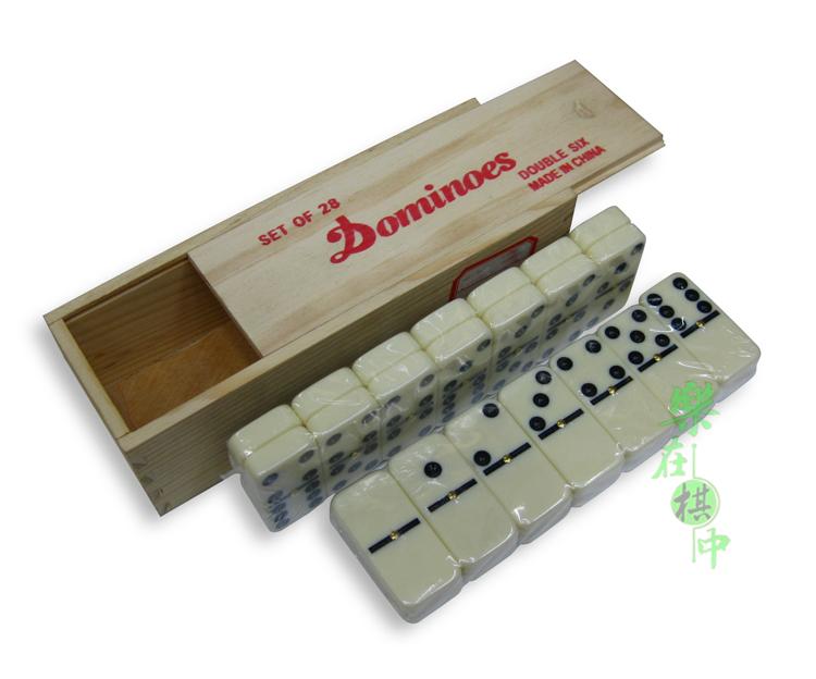 Деревянный ящик . домино кость карты / карты девять / строительные блоки / жизнь развлечения необходимо статья DOMINOES