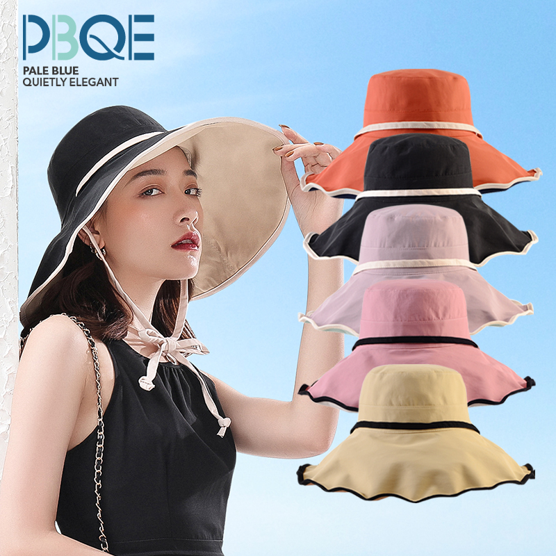 Sunshade hat womens fashion brand show face small Korean version mix and match summer thin sunscreen large brim hat fashion mask fishermans hat