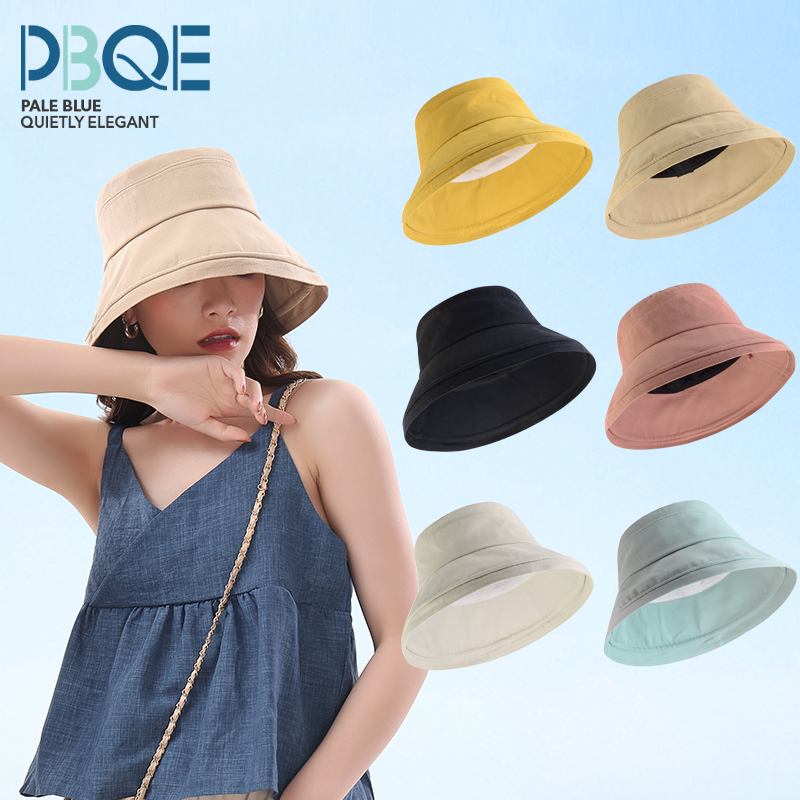 Fishermans Hat Womens fashion brand show face small summer thin sunscreen hat Korean version versatile big brim cover face hat trend