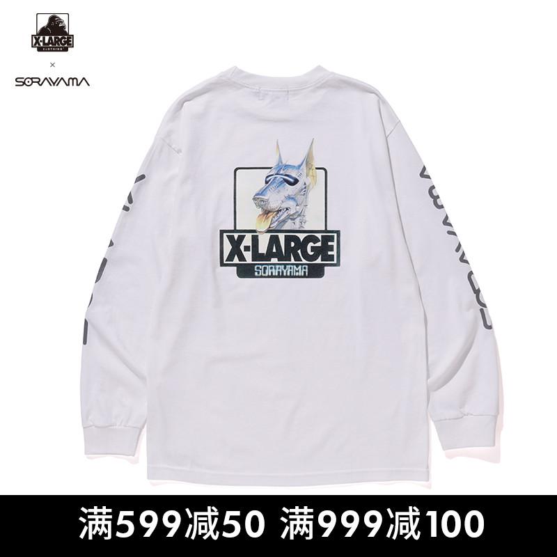 XLARGE x 空山基联名款潮流男装 宽松时尚长袖T恤衫