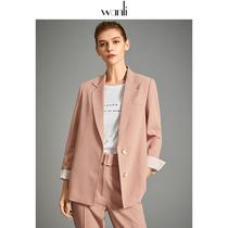 万丽(服饰)西装外套女韩版宽松2020秋装新款休闲小西装外套女
