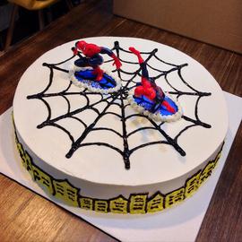 那花西点蜘蛛侠儿童节卡通新鲜水果生日蛋糕低糖定制广州同城配送图片