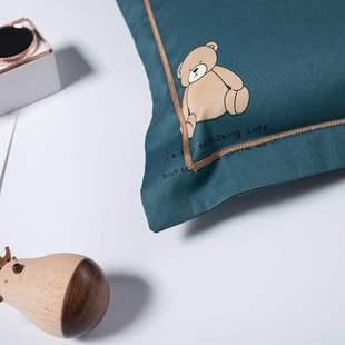 60支长绒棉幼儿园婴童纯棉枕套50x30全棉卡通儿童枕头宝宝枕芯套价格