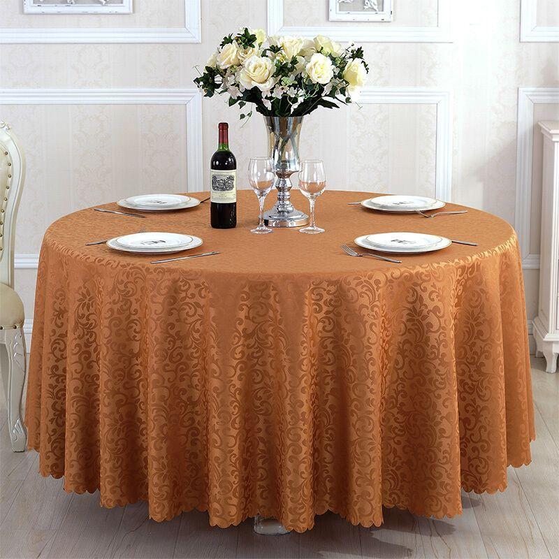 ホテルのテーブルクロスレストランのテーブルクロステーブルテーブルテーブルテーブルテーブルテーブルテーブルテーブルテーブルテーブル茶の円形長方形の布芸洋式コーヒー色