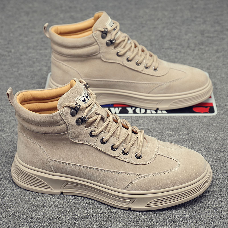Mens autumn shoes new 2020 retro British work wear boots fashion middle top casual board shoes desert Short Boots Mens military boots