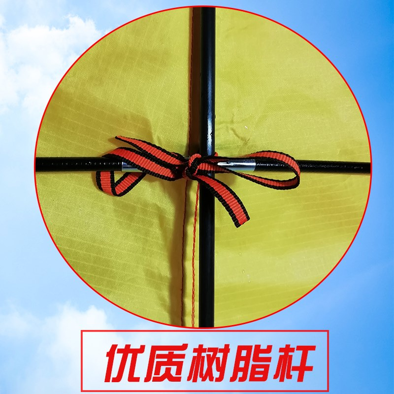 潍坊新款风筝大型立体大高档特大草原微风易飞巨型伞布儿童超三角