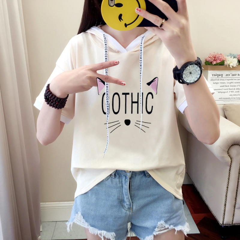12 summer 13 girls 14 short-sleeved T-shirt 15 big boy junior high school students set female 16 years old hat top