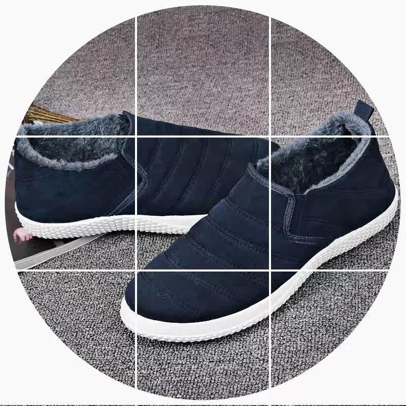 一脚加绒棉鞋冬老版男鞋加厚北京蹬休闲保暖。鞋韩布鞋鞋懒人时尚