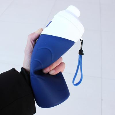 水杯女便携杯子简约可折叠创意水瓶个性硅胶口杯健身软双层随手杯