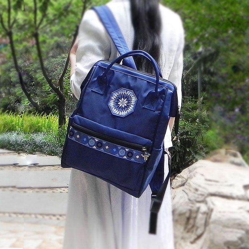 2020美伊大学生大容量书包女简约文艺双肩背包学生韩国森系旅行包