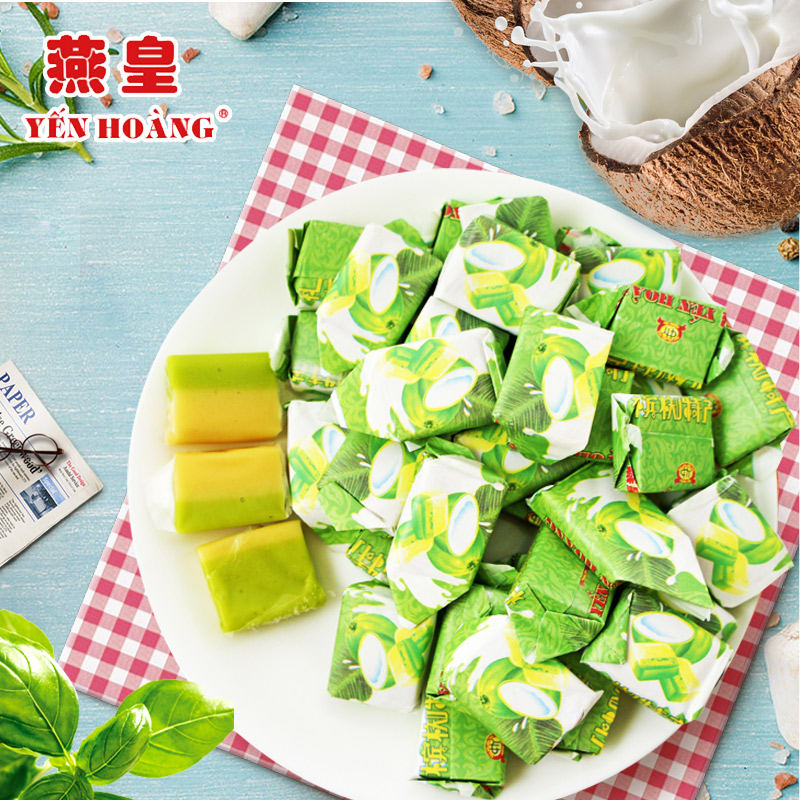 Vietnam imported Penang Yanhuang original coconut candy Hainan specialty 200g 80 / post-90s nostalgic snack
