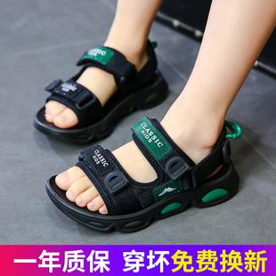 中大童韩版 男童凉鞋 子 2021新款 宝宝儿童防滑软底鞋 学生沙滩鞋 夏季