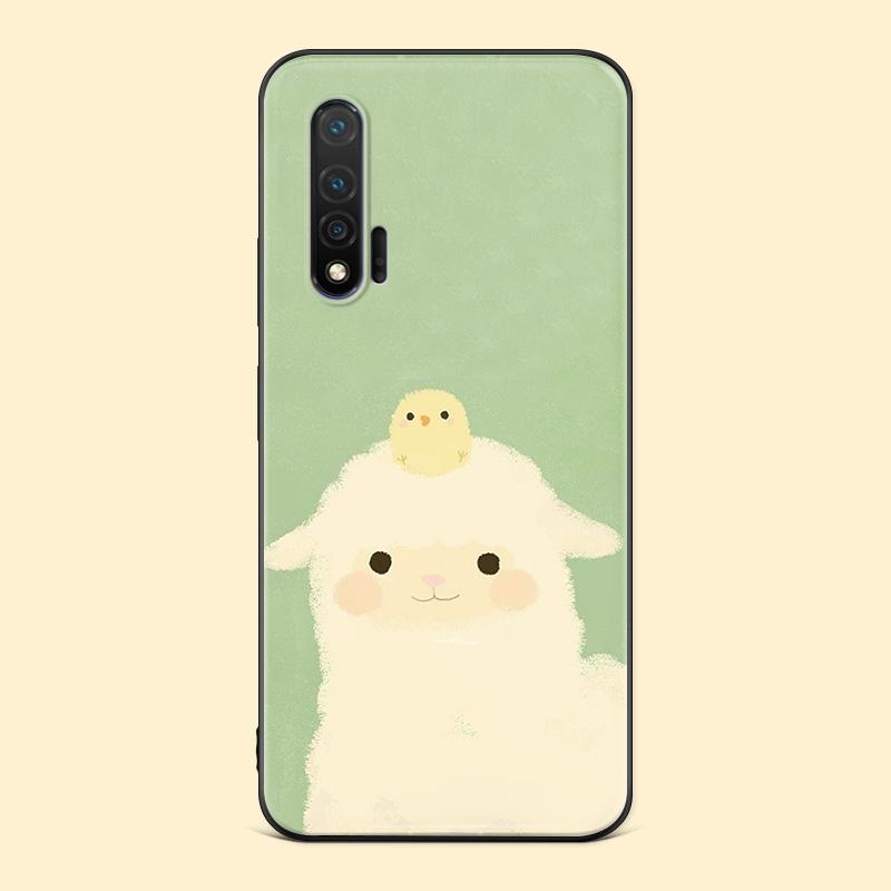 绵羊小鸡适用华为nova6手机壳5pro可爱se3i4e2s卡通z女款全包软胶