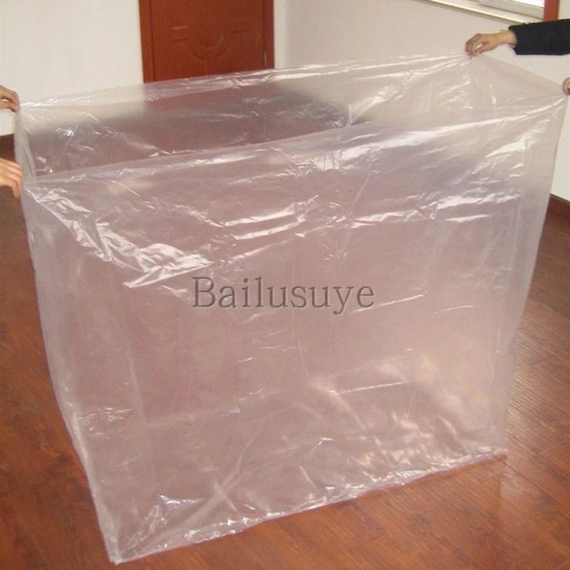 Custom made large square machine cover packing bag dust bag lining bag tray bottom plastic bag