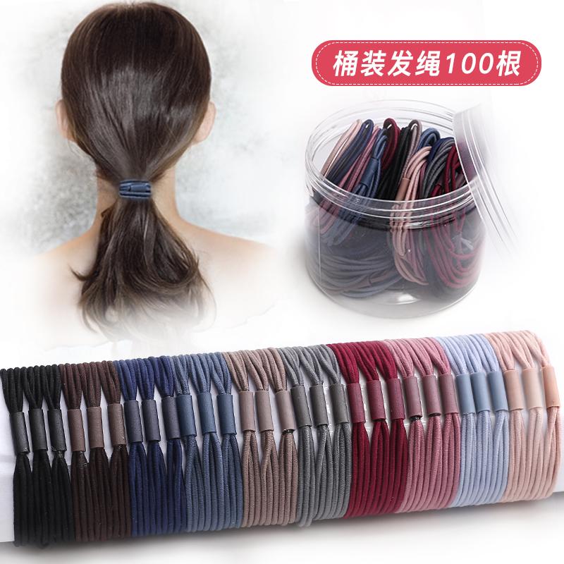 韩国简约头绳女扎头发的皮筋高弹力橡皮筋发饰网红小发圈发绳头饰满19.60元可用10.8元优惠券