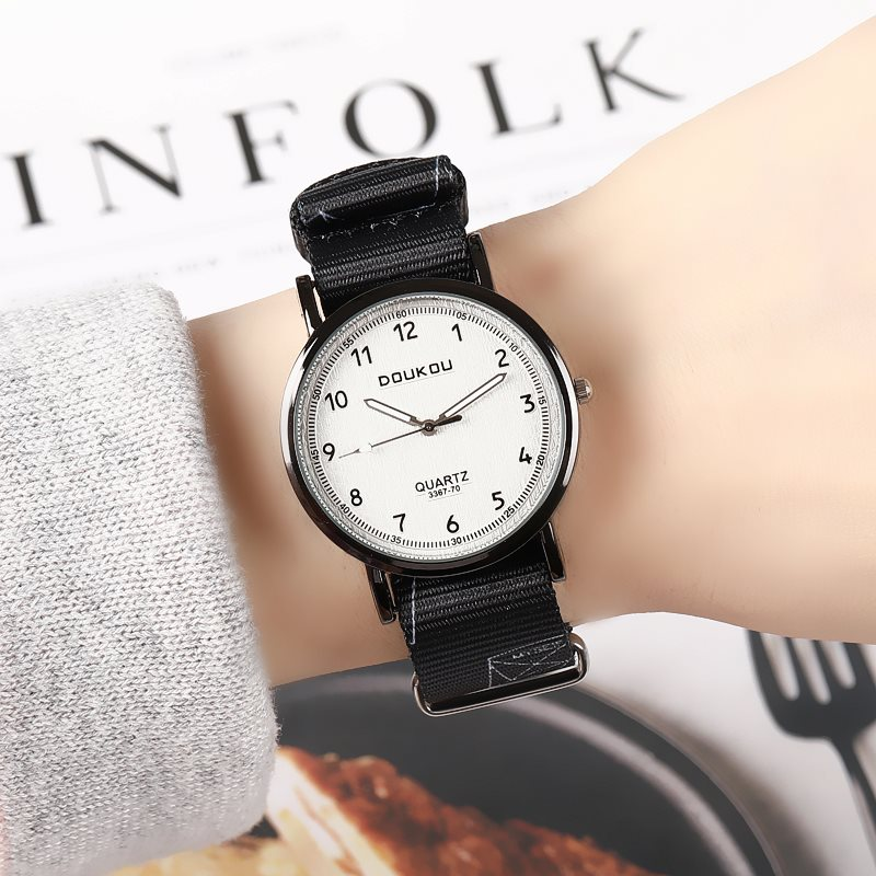 |Ins style simple temperament cool personality trend canvas belt gradient color yuan Sufeng girls boys and girls watch