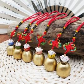 风铃及配件纯铜铃铛带铃锤会响金属小铃铛风铃diy材料圣诞铃铛图片