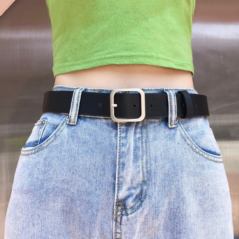 网红同款皮带女简约百搭韩国韩版潮学生复古黑色牛仔裤腰带女装饰满9元可用3元优惠券