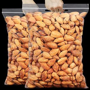 新货巴旦木坚果仁500g散装巴达木扁桃仁巴坦木大杏仁原味干果零食