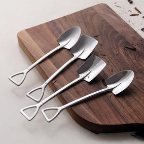 创意304不锈钢可爱铁楸工兵铲勺子
