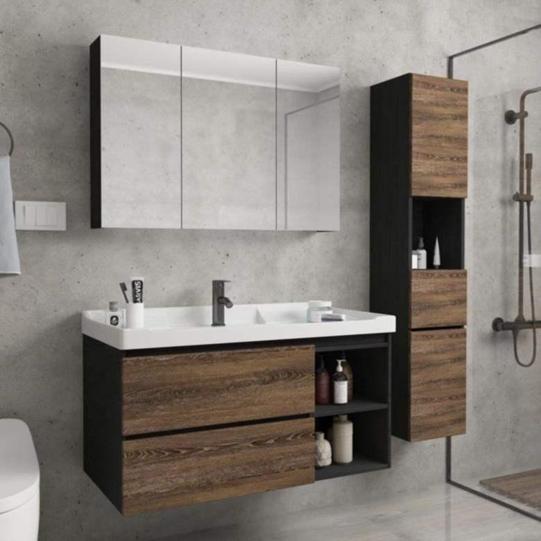 11月28日最新优惠欧风浴室柜边柜卫生间一米洗漱台侧面灯具带灯展架厕所卫浴柜双人