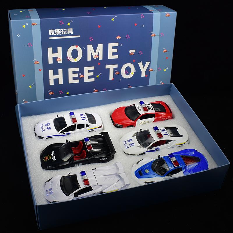 警�玩具�合金汽�模型小汽�男孩公安警�回力套�b�和�玩具警�