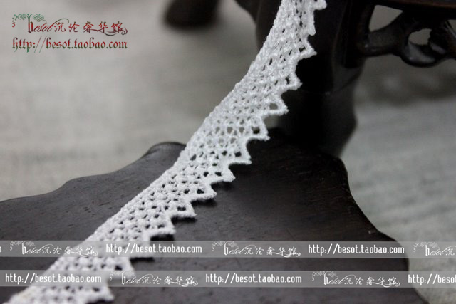 Exquisite DIY handmade accessories Lolita garment accessories 1.2cm embroidery lace lace wedding dress accessories